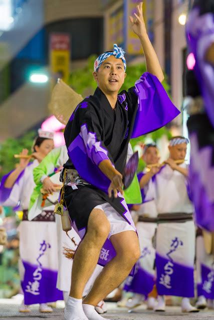 三鷹阿波踊り 神楽坂 かぐら連の男踊り