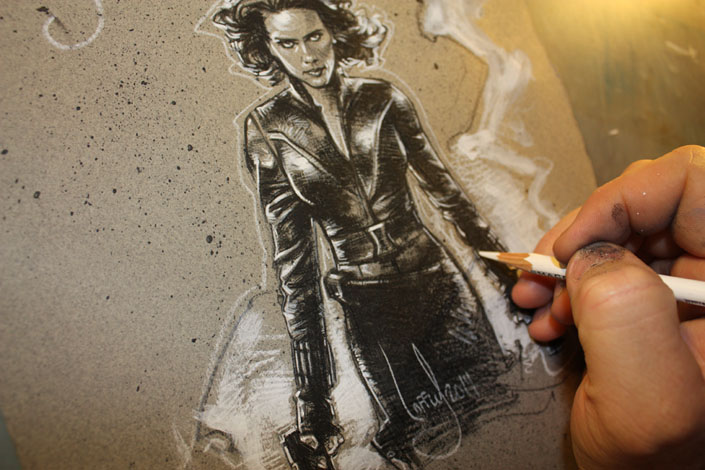 Black Widow Artwork, Copyright © 2014 Jeff Lafferty