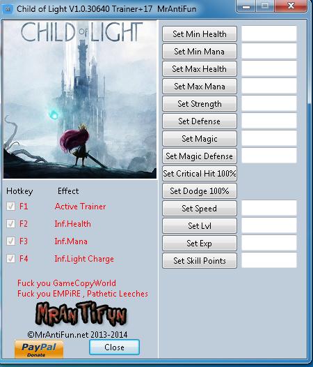 Child of Light V1.0.30640 Trainer+17  MrAntiFun