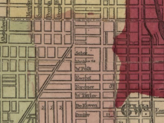 RootDig.com: Chicago Fire Map From 1871