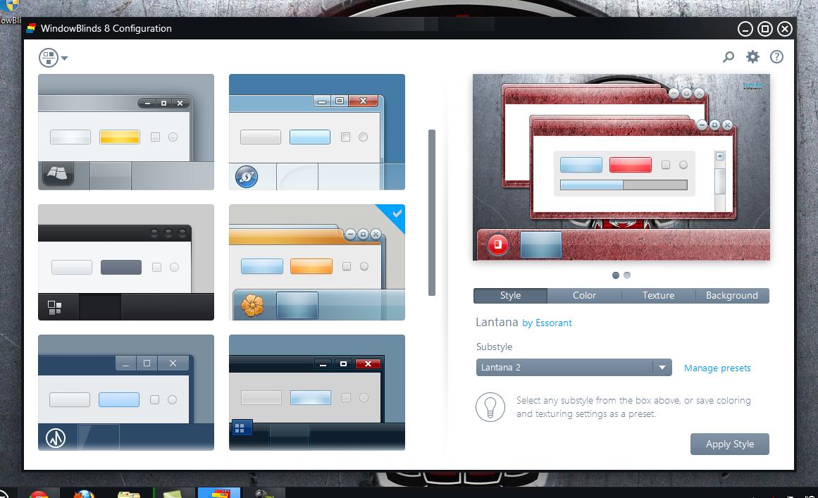 برنامج windowblinds 8 لتجميل سطح المكتب 2014