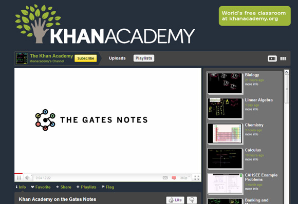 Khan+Academy Top 10 Best How To YouTube Video Channels