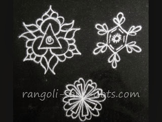 This image shows an intermediate step for the kolam on the top left