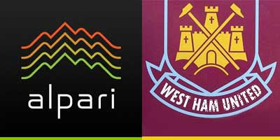 Alpari (UK) Limited (Forex Brokers) and WestHam United FC (WHUFC) Brand Logos