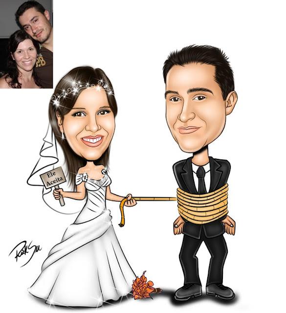 noiva amarrando o noivo com corda