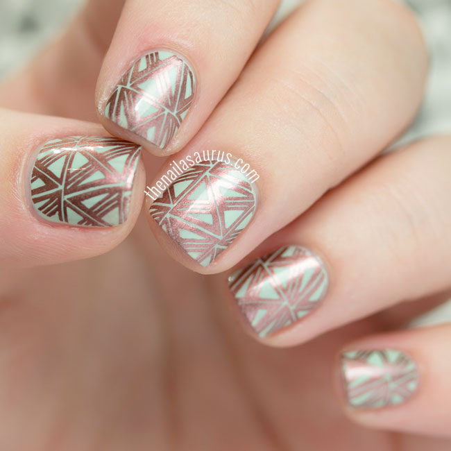 31DC2015: Metallic Geometric Stamped Nails