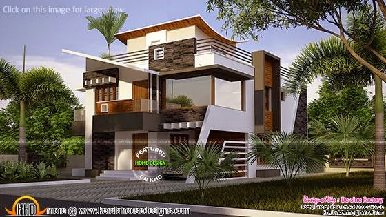 January 2015 kerala home design and floor plans for Ultra modern contemporary house plans