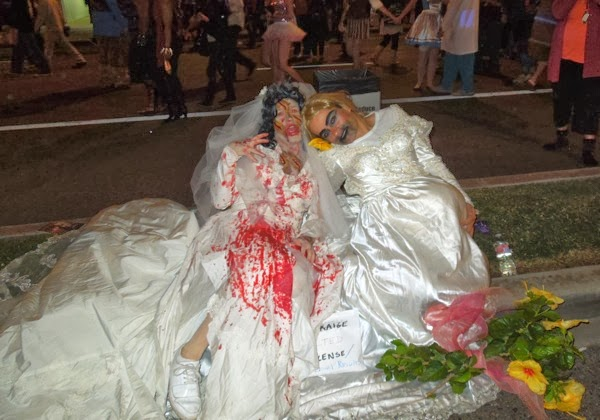 Zombie brides West Hollywood Halloween Carnaval
