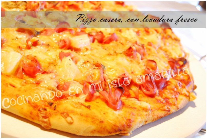 receta masa de pizza casera crujiente