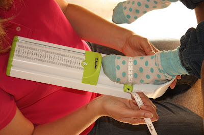 Using the Clarks Kids Foot Measurer Gauge