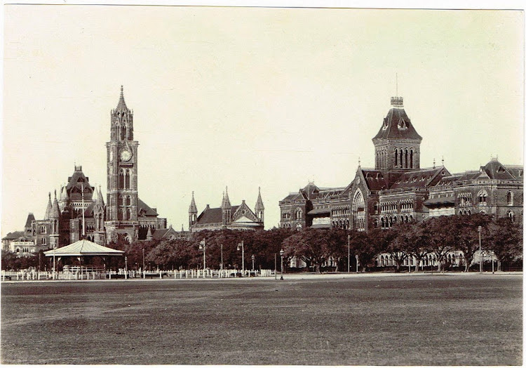 University-and-Government-Buildings---Bombay-(Mumbai)-c1900