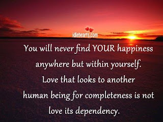 You Will Never Find Your Happiness