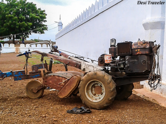 Jugaad with diesel engine and wheels in India