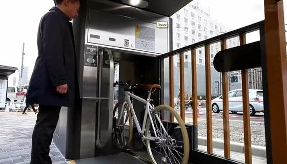 automated bicycle parking technology invented by japan