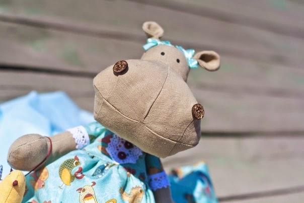 Бегемотик, игрушка бегемот, игрушка ручной работы, купить игрушку ручной работы, текстильные игрушки
