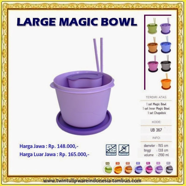 large magic bowl tulipware 2013