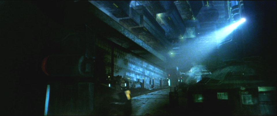 Un fotograma de Bladerunner.