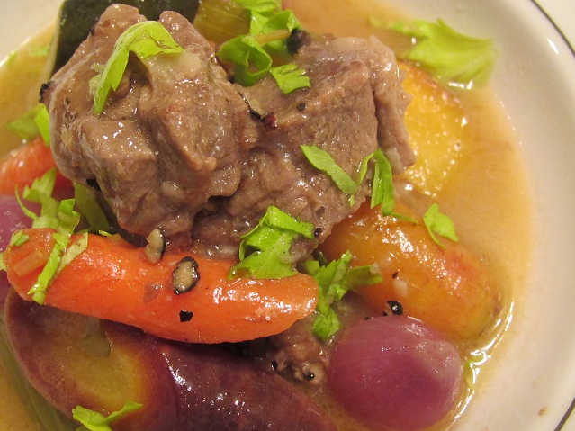 Braised Lamb Vegetables in White Wine