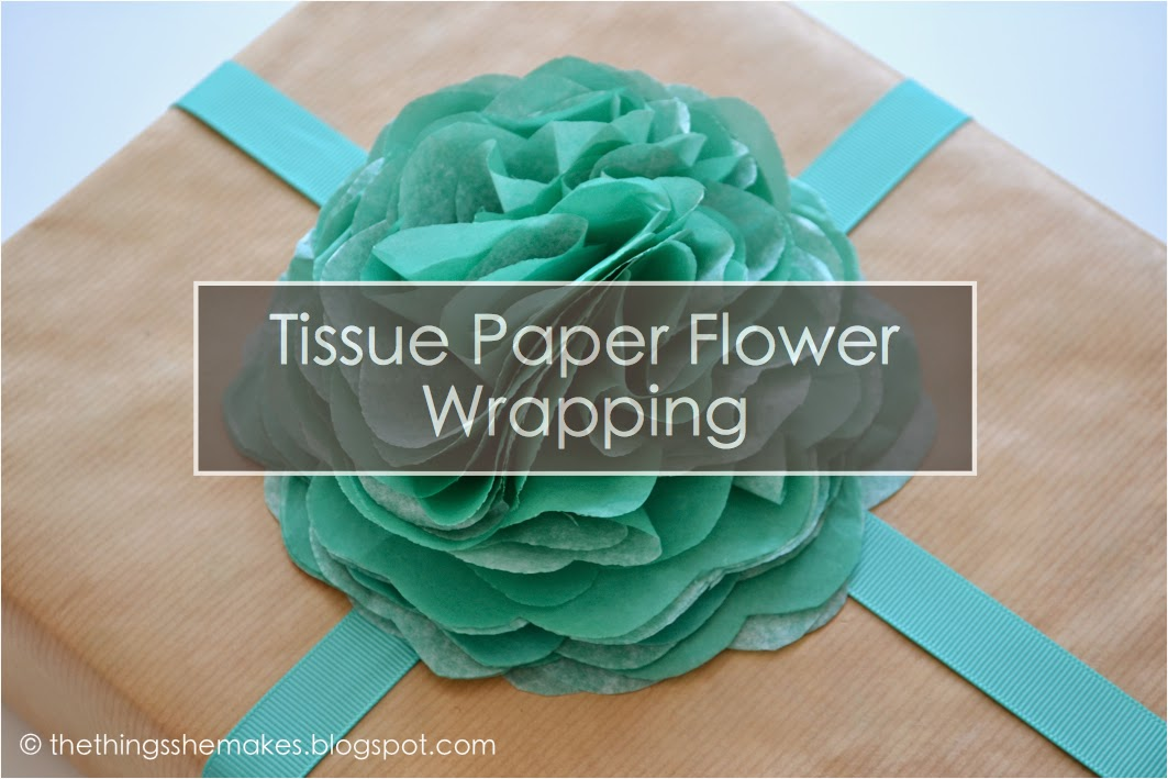 How to make tissue paper flowers the things she makes how to make tissue paper flowers wednesday 20 august 2014 as you may know wrapping presents is one of my favourite things to do mightylinksfo