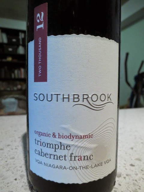Wine Review of 2012 Southbrook Triomphe Cabernet Franc from VQA Niagara-on-the-Lake, Ontario, Canada