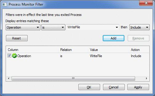 Filtro para registrar escrituras en fichero