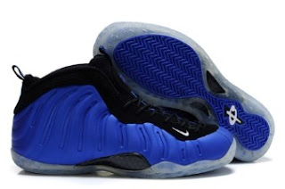 NBA Nike Air Foamposite One Shoes Blue Black