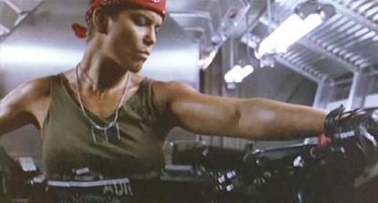 Aliens movie - female marine Private Vasquez