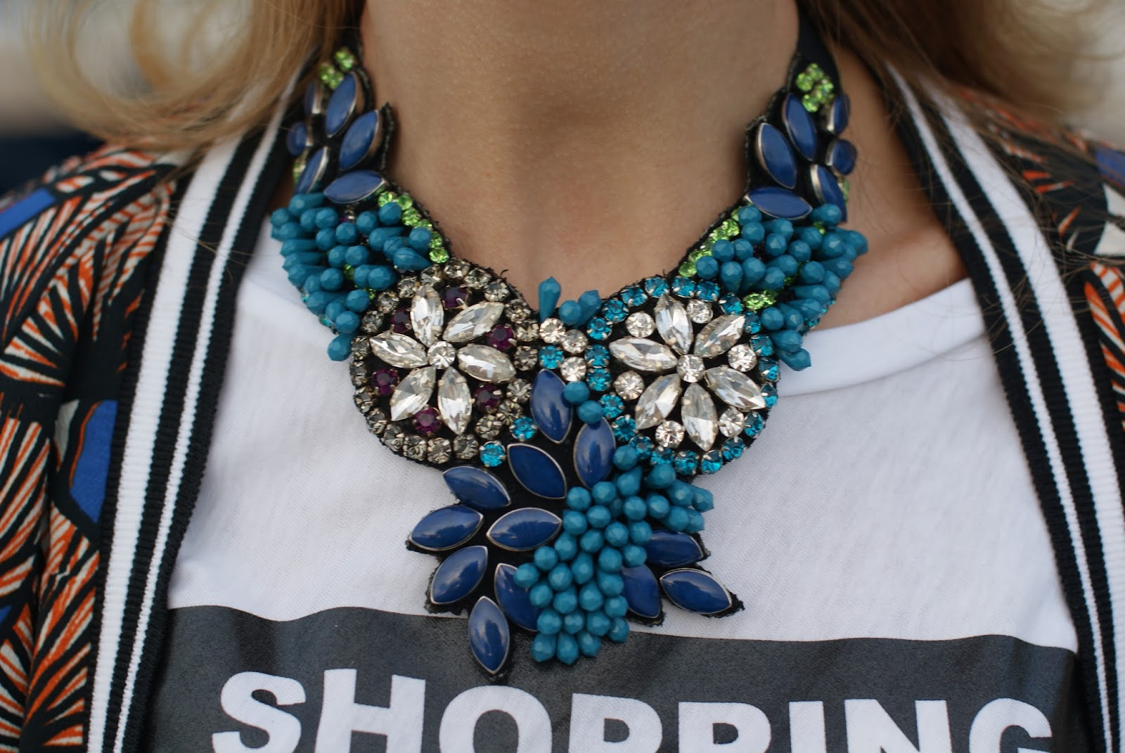 SimonaB Bijoux collana pietre blu su Fashion and Cookies fashion blog