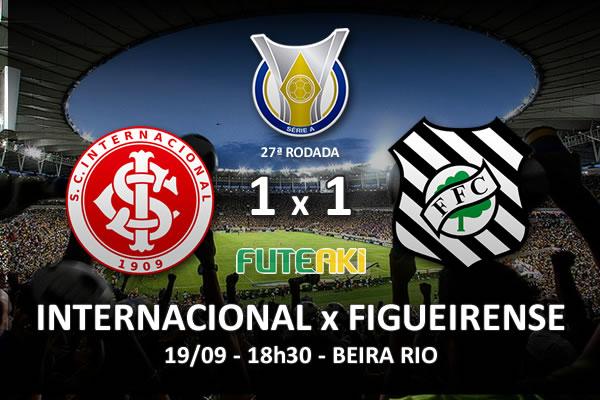 Veja o resumo da partida com os gols e os melhores momentos de Internacional 1x1 Figueirense pela 27ª rodada do Brasileirão 2015.