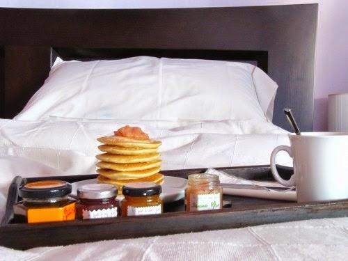 Desayuno de tortitas americanas