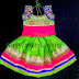 Green Silk Skirt for Small Baby