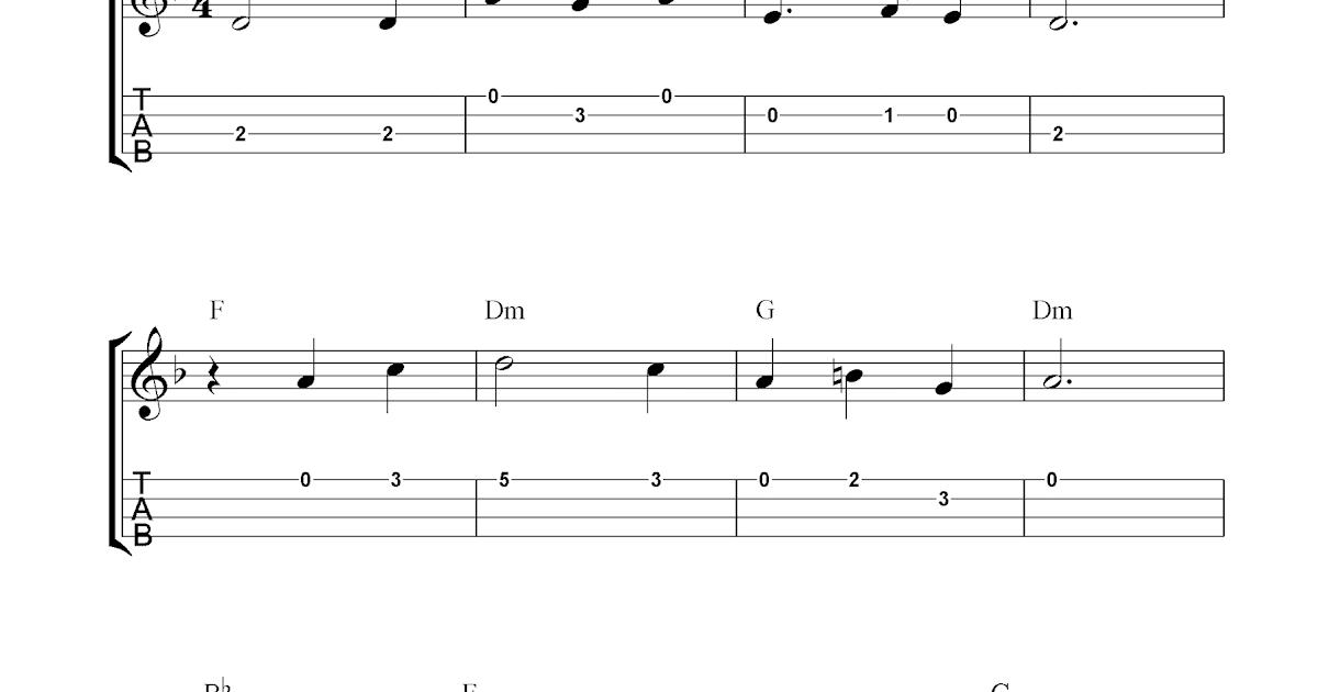 Scarborough Fair, free ukulele tablature sheet music