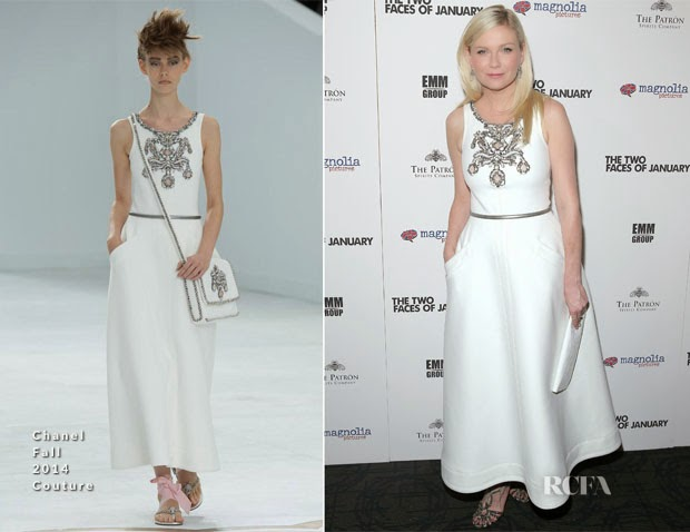 Kirsten Dunst In Chanel Couture – 'The Two Faces Of January' New York Premiere