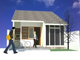 denah rumah sangat sederhana sekali