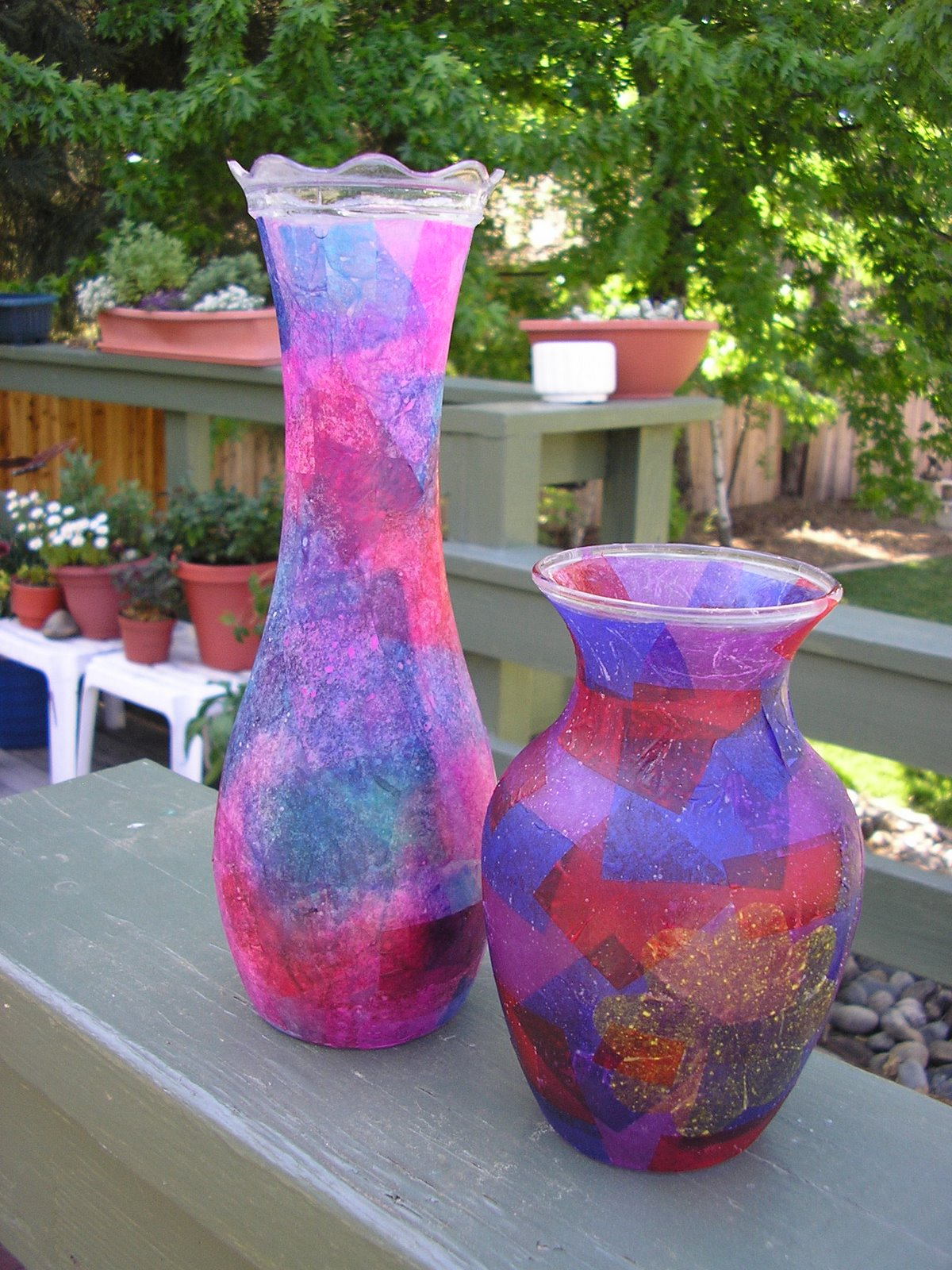 Tissue paper vase choice image vases design picture hearts and trees reviewsmspy reviewsmspy