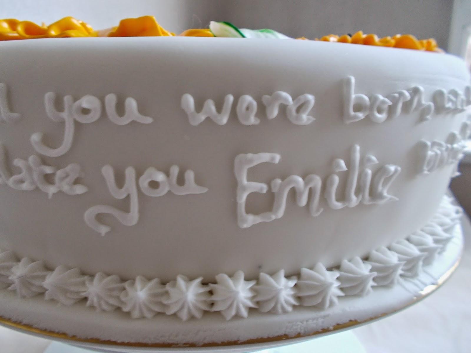 Birthday Cake With Name Zoya ~ Food and cakes with juyee: emilies birthday cake