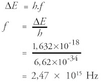 Frekuensi foton (f )
