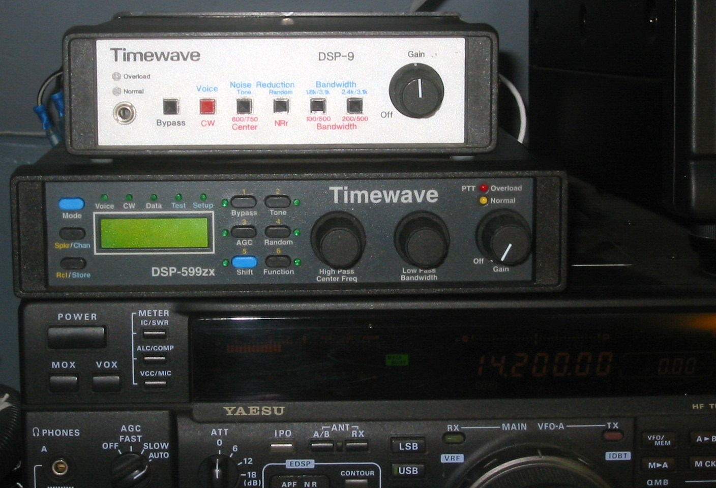 Timewave DSP-9 and 599zx