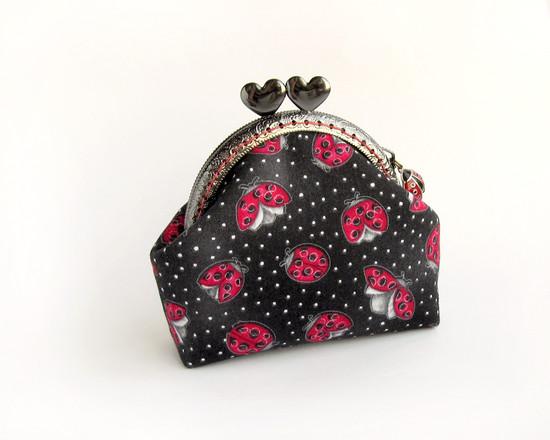 Ladybugs, кошелек на фермуаре