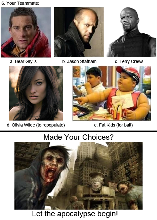 tumblr 2 Zombie Apocalypse   Choose Wisely