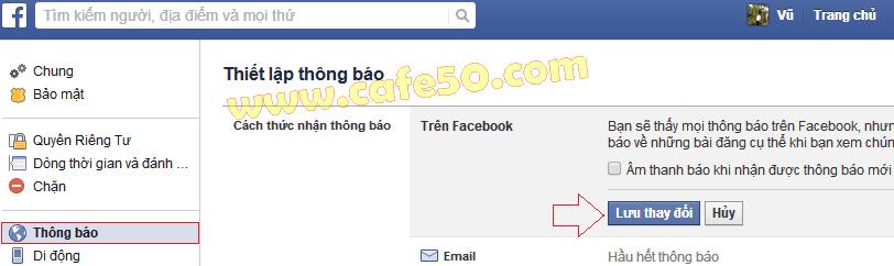 Âm thanh Facebook, Cách tắt âm thanh thông báo, chat trên Facebook (FB)