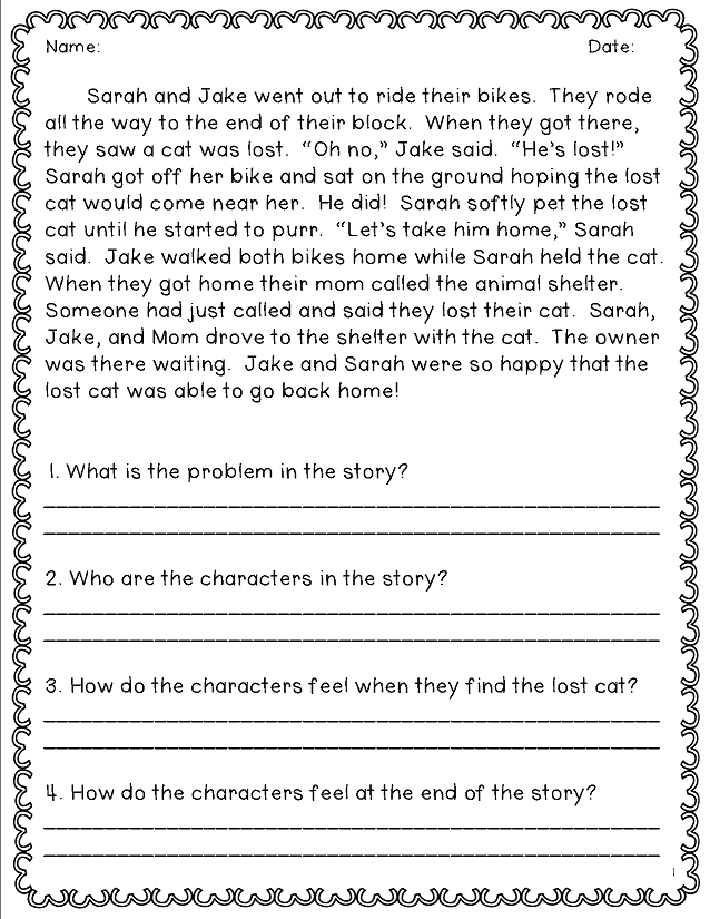 Printables 2nd Grade Stories 2nd grade reading stories scalien scalien
