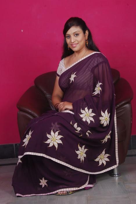 uma character artist in saree cute stills