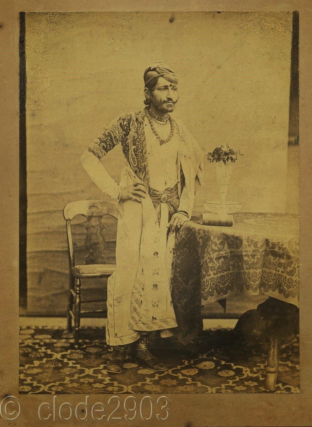 Maharaja of Jaipur Ram Singh II - c1870's