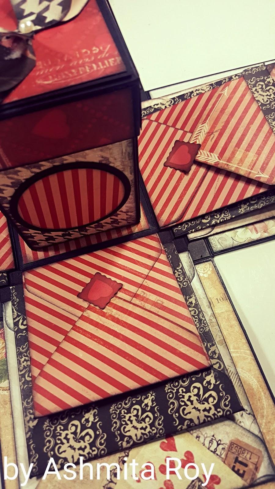 Art some craft: VALENTINE ENVELOPE EXPLOSION BOX - START