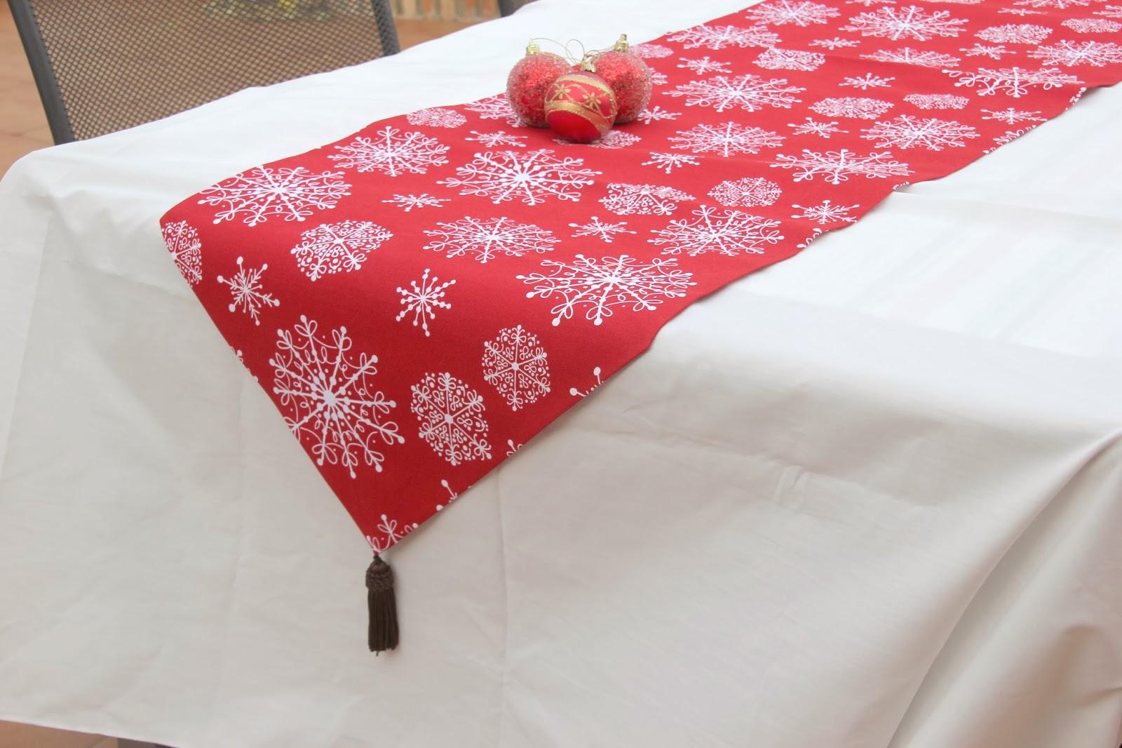 Diy navidad camino de mesa navide o para decorar tu mesa for Como hacer caminos de mesa modernos