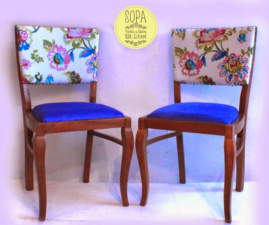 Sopa muebles y objetos old school sillas francesas charlotte - Sillas restauradas ...