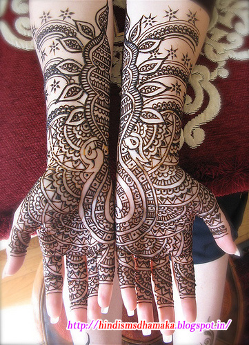 Mehndi Quotes In : Special mehandi design for karwa chauthcute quotes