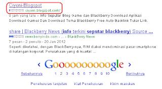 Rank Keyword Info Seputar Blackberry