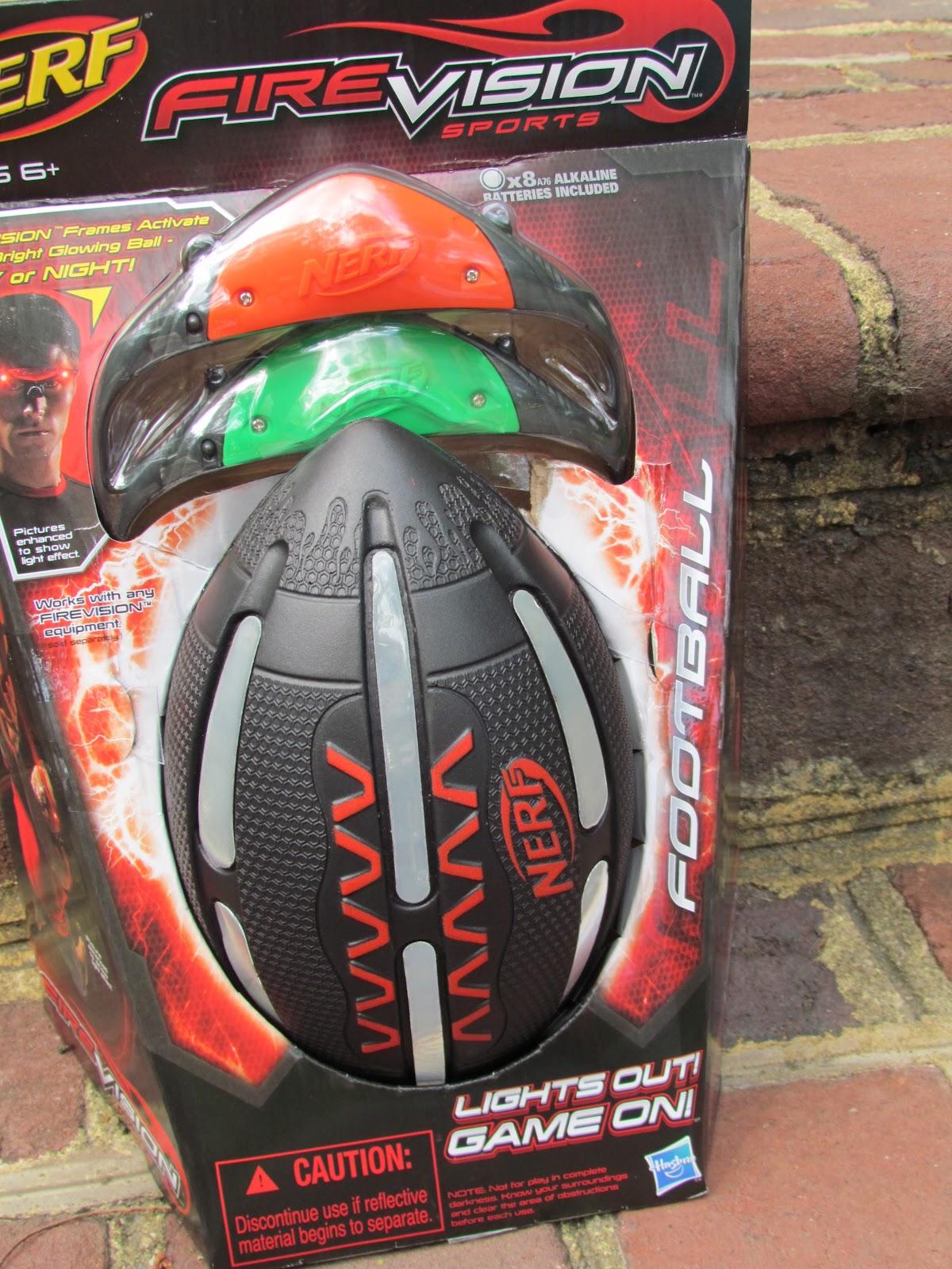 Football Toys For Boys : Nerf nite fire vision football